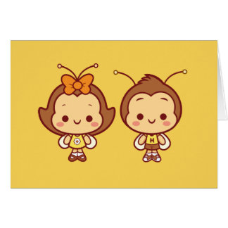 Hana and Hachi Notecard Note Card