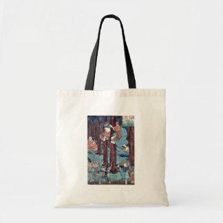 Hana no en Ushiwakamaru by Utagawa, Kuniyoshi Tote Bags