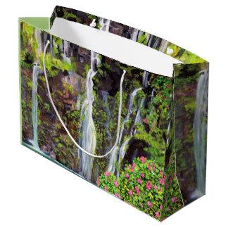 Hana Waterfalls - Custom Gift Bag - Large, Glossy