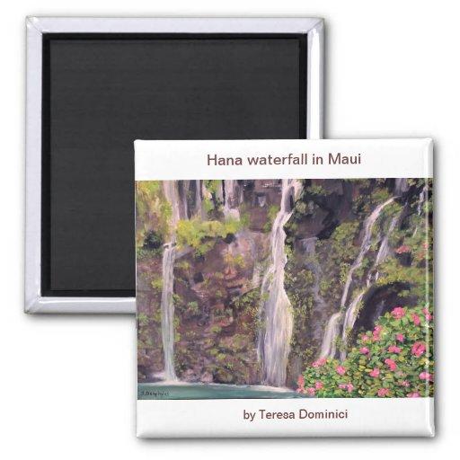 Hana waterfalls in Maui, Hawaii Fridge Magnets