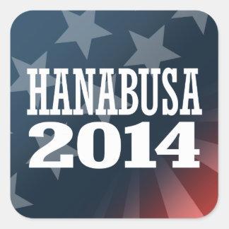 HANABUSA 2014 SQUARE STICKER