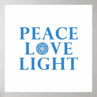 Hanakkah - Peace Love Light Poster