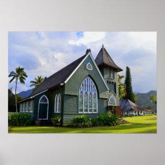 Hanalei, Hawaii, Church Poster