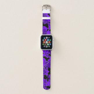 Hanalei Hawaiian Hibiscus Camo Floral Purple Apple Watch Band