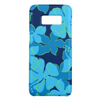 Hanalei Hawaiian Hibiscus Floral Blue Case-Mate Samsung Galaxy S8 Case