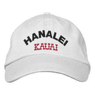 Hanalei Kauai Hawaii Embroidered Hat