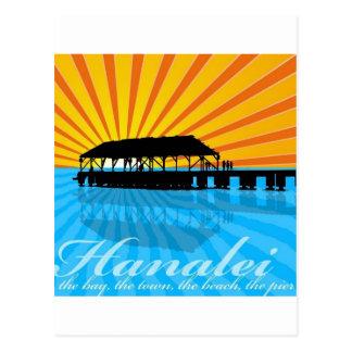 Hanalei Pier Postcard