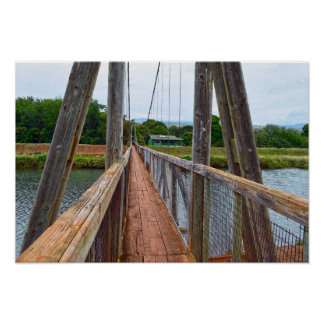 Hanapepe Swinging Bridge, Kauai, Hawaii Poster