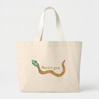 Hana's Zoo logo Large Tote Bag