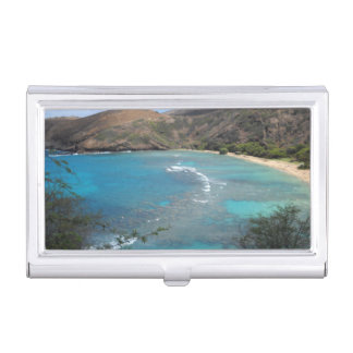 Hanauma Bay Cliff Business Card Holder