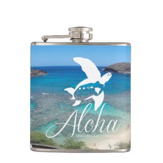 Hanauma Bay Hawaii Aloha Turtle Hip Flask
