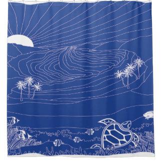 Hanauma Bay Hawaii - Blue Shower Curtain