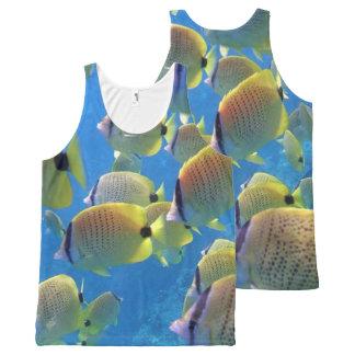 Hanauma Bay Hawaii Butterfly Fish All-Over Print Singlet