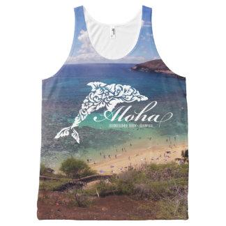 Hanauma Bay Hawaii Dolphin All-Over Print Singlet