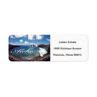 Hanauma Bay Hawaii Islands Return Address Label