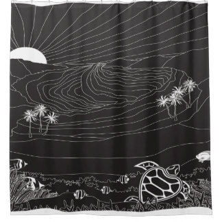Hanauma Bay Hawaii - Night Shower Curtain