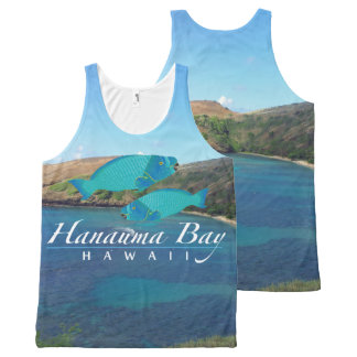 Hanauma Bay Hawaii Parrot Fish All-Over Print Singlet
