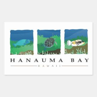 Hanauma Bay Hawaii Rectangular Sticker