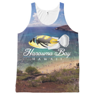 Hanauma Bay Hawaii  State Fish All-Over Print Singlet
