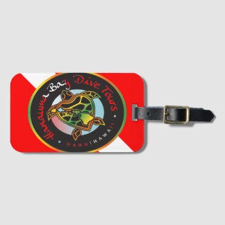 Hanauma Bay Hawaii Turtle Dive Flag Luggage Tag