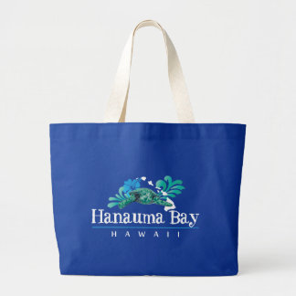 Hanauma Bay Hawaii Turtle Large Tote Bag