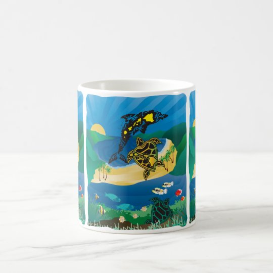 Hanauma Bay Hawaii Turtle Magic Mug