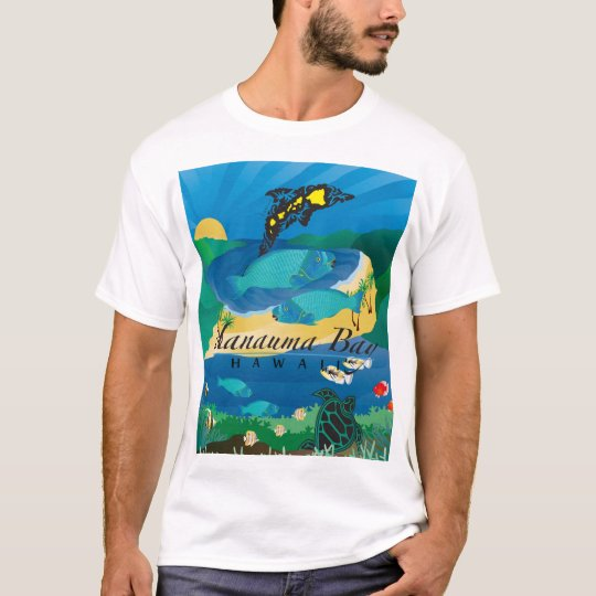 Hanauma Bay Oahu Hawaii Parrot Fish T-Shirt