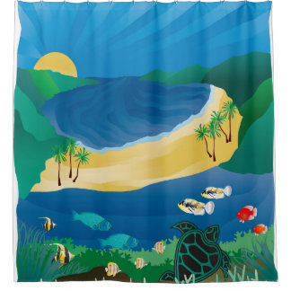 Hanauma Bay Oahu Hawaii Shower Curtain