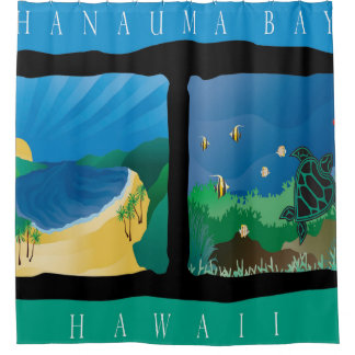 Hanauma Bay Oahu Island Hawaii Shower Curtain
