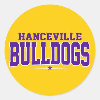 Hanceville High School; Bulldogs Round Stickers