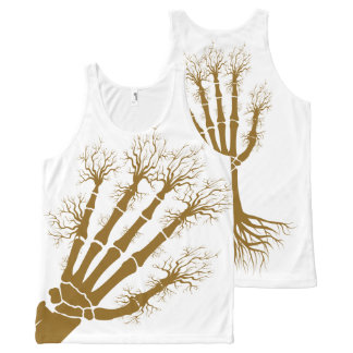 Hand A Bone Tree All-Over Printed Unisex Tank