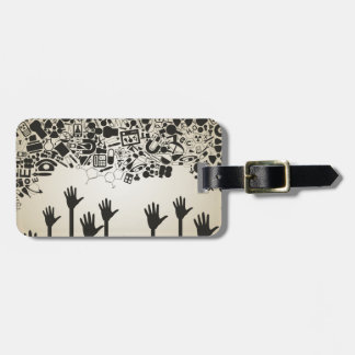 Hand a science luggage tag
