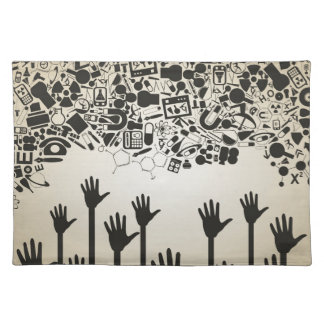 Hand a science placemat