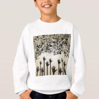 Hand a science sweatshirt