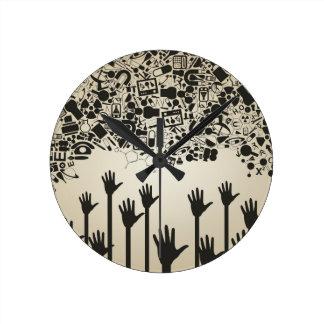 Hand a science wall clocks