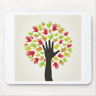 Hand a tree2 mouse pad