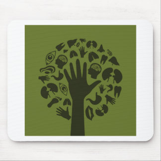 Hand a tree3 mouse pad