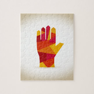Hand abstraction jigsaw puzzle
