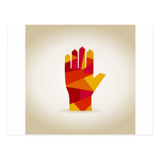 Hand abstraction postcard
