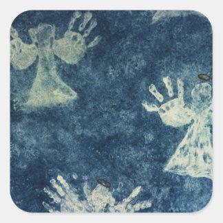 Hand Angels Square Sticker