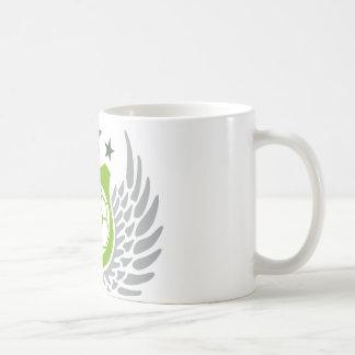 hand ball basic white mug