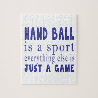 HAND BALL JUST A GAME JIGSAW PUZZLE