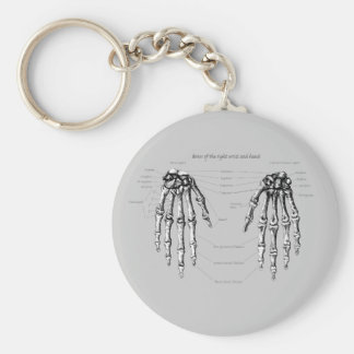 Hand Bones Details Key Ring