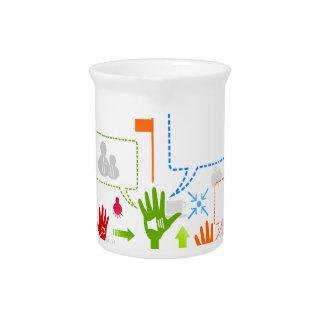 Hand business beverage pitcher