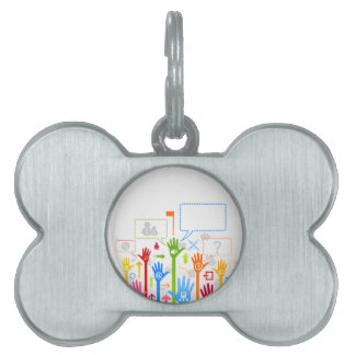 Hand business pet ID tag