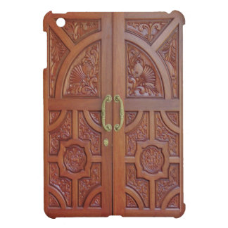 (hand carved wood doors) iPad mini Case For The iPad Mini