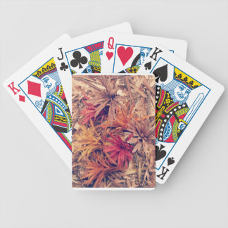 Hand carved wooden Forever flowers Bicycle Playing Cards
