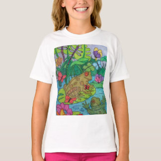 Hand colored Frog! T-Shirt