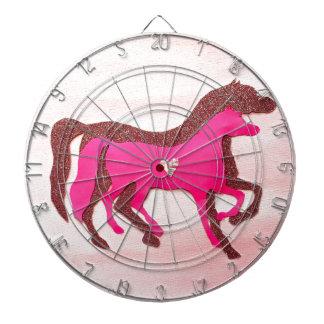 Hand Designed Pink Horse Dartboard