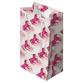 Hand Designed Pink Horse Gift Bag